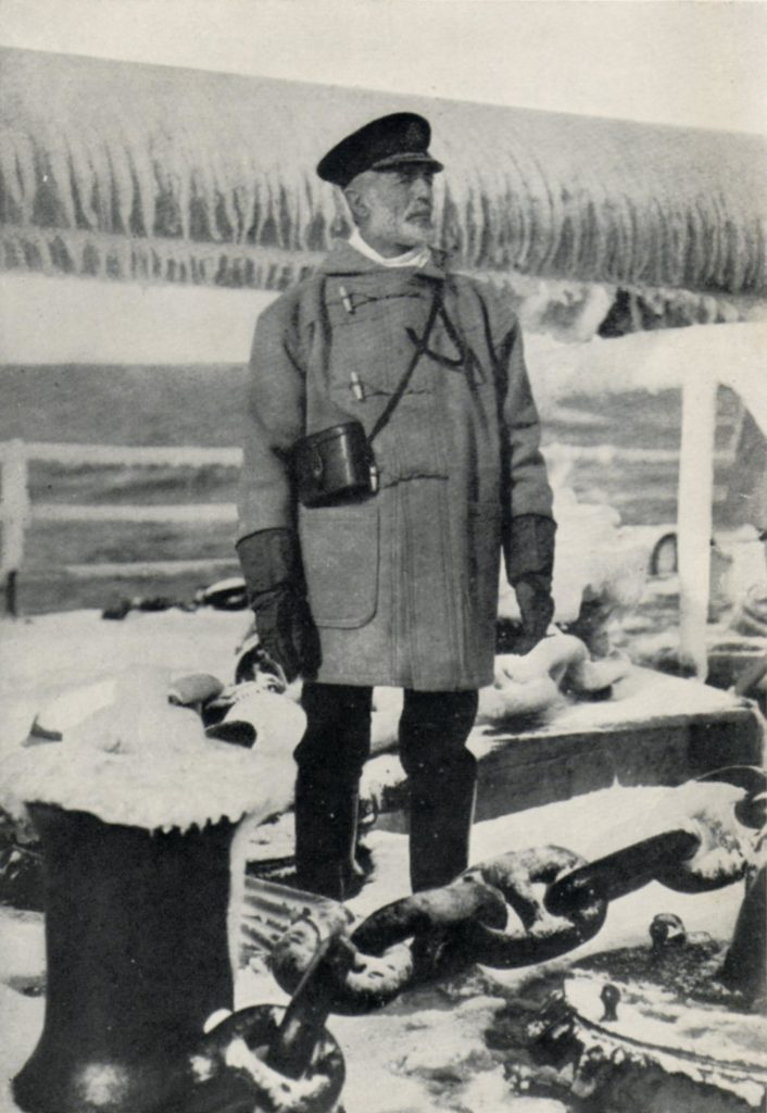 Sir Sydney Fremantle, pictured on Northern Patrol in 1917.