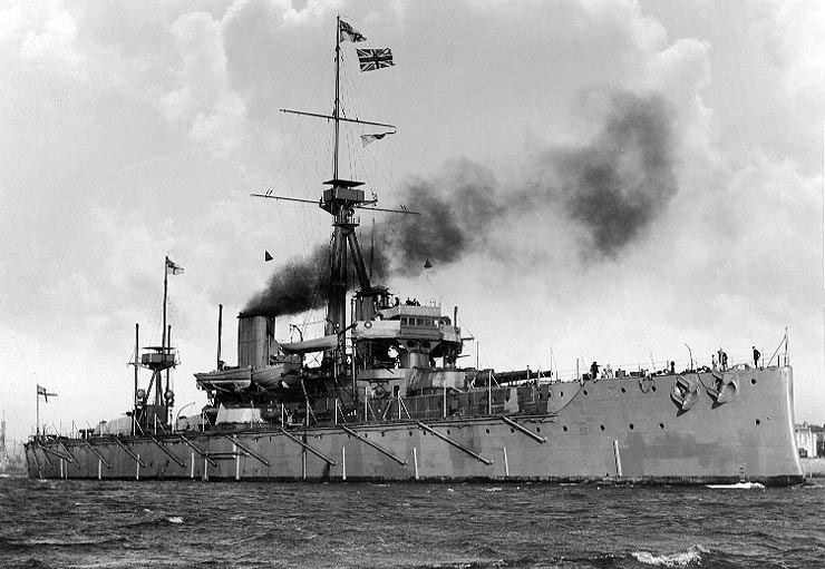 HMS Dreadnought. With her building in 1906, Britain effectively 'levelled the playing field'.