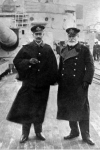 Kaiser Wilhelm II with Admiral von Holtzendorf, the architect of Germany's 1917-1918 Unrestricted submarine campaign.