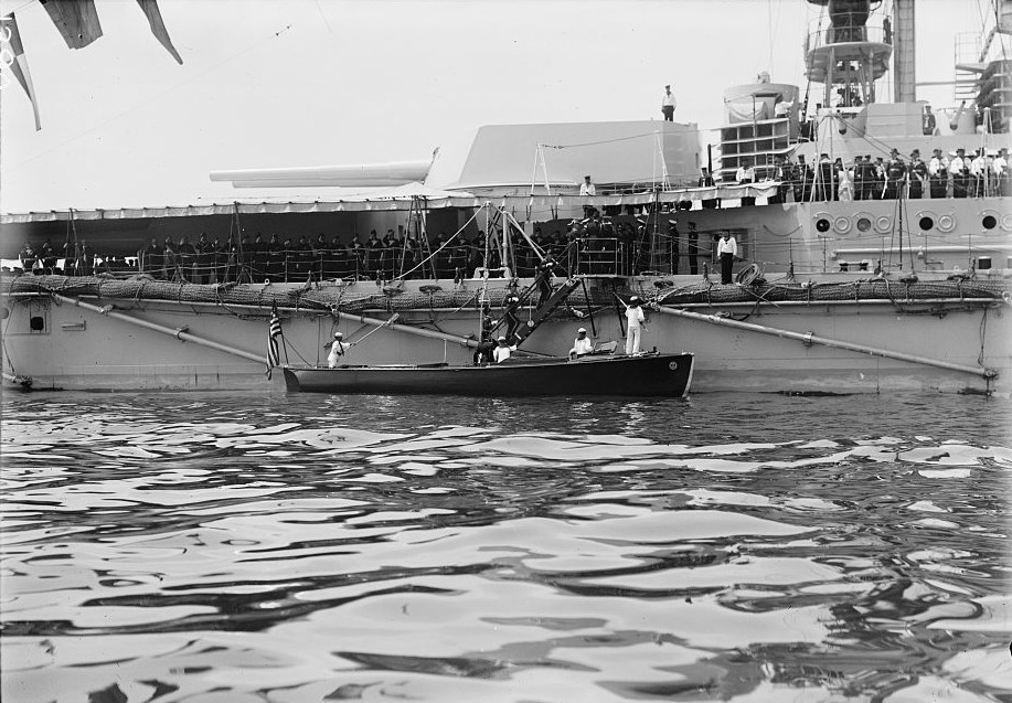 Moltke in US waters in 1912.